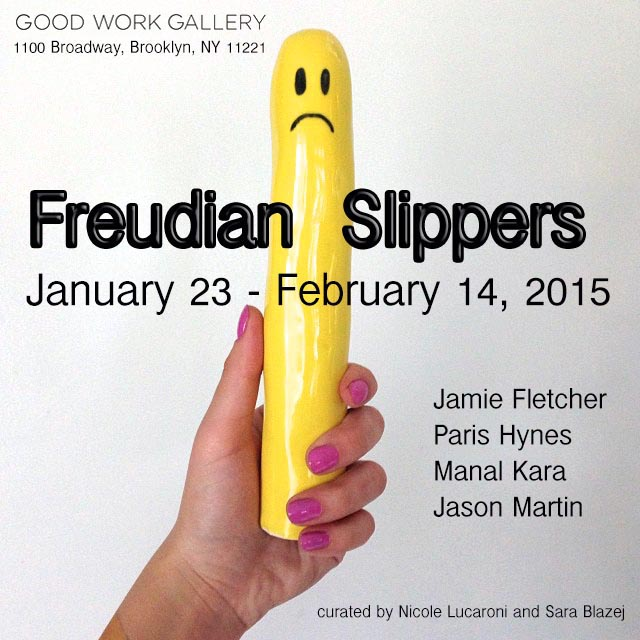 freudian slippers- bubble text