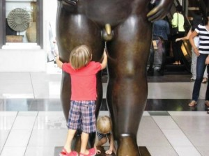 "Fig 10: Photo courtesy of Corvus2010 on TripAdvisor: ""Klein und Gross - der Adam von Fernando Botero"" (Jan 2014)"