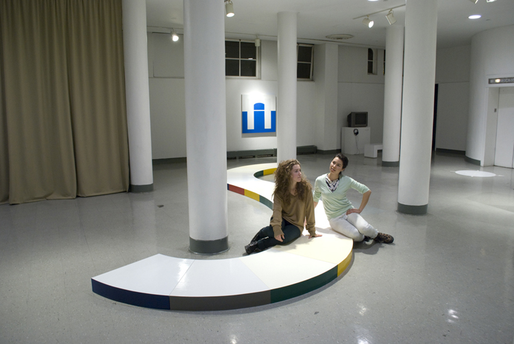 Fig. 11: Maren and Saki in contemplation at their thesis show, Time and Again, in 2010.